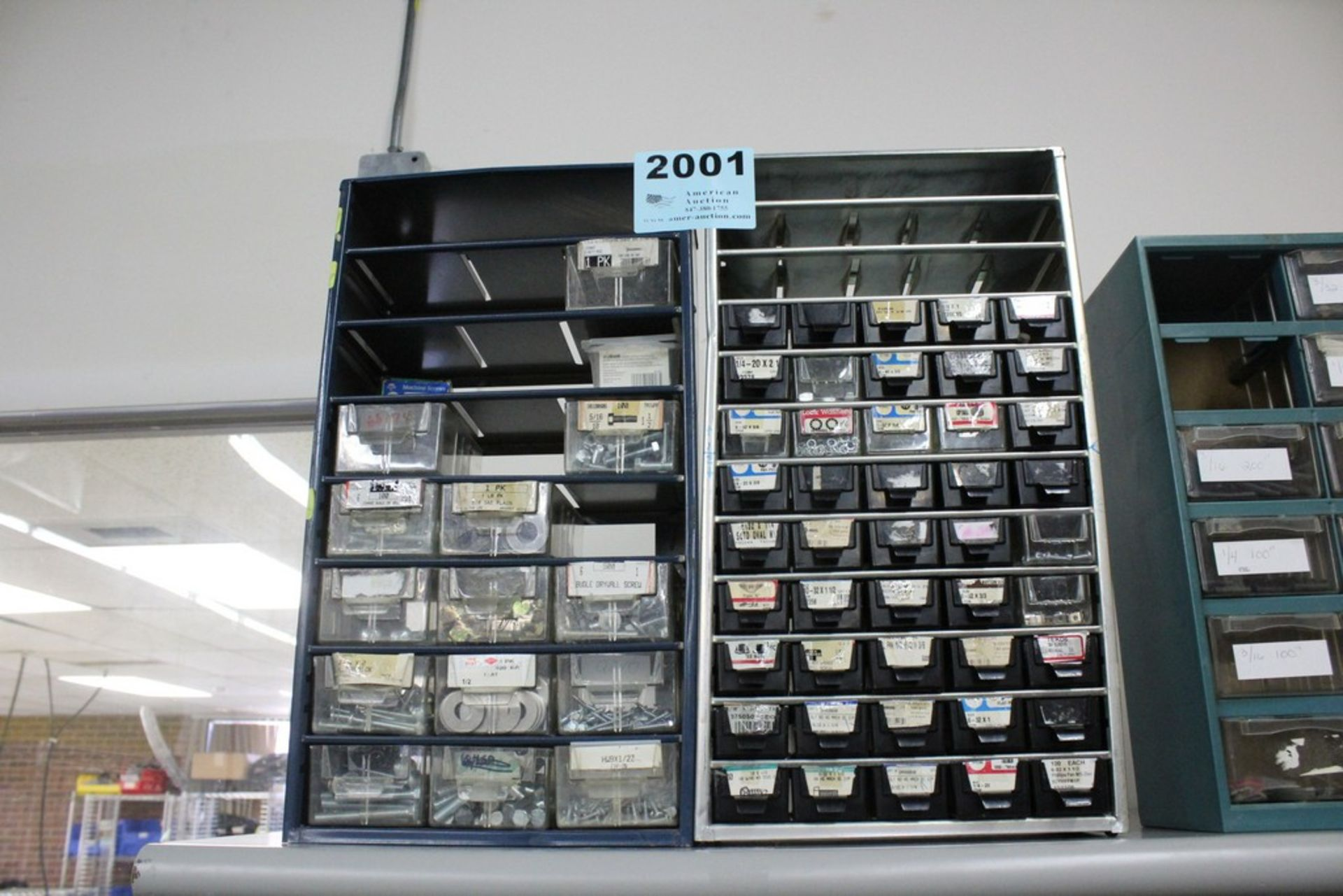 Lot 2001 - (2) MULTI-SLOT PARTS CABINETS WITH CONTENTS