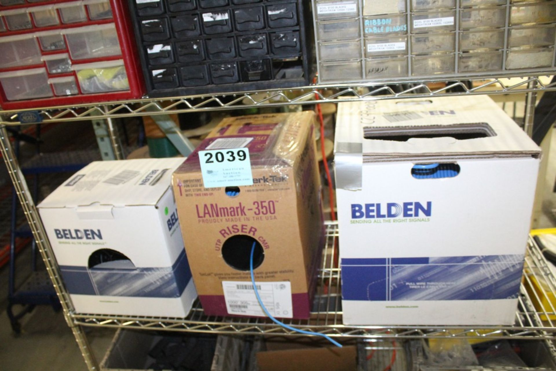 Lot 2039 - ETHERNET CABLE IN THREE BOXES
