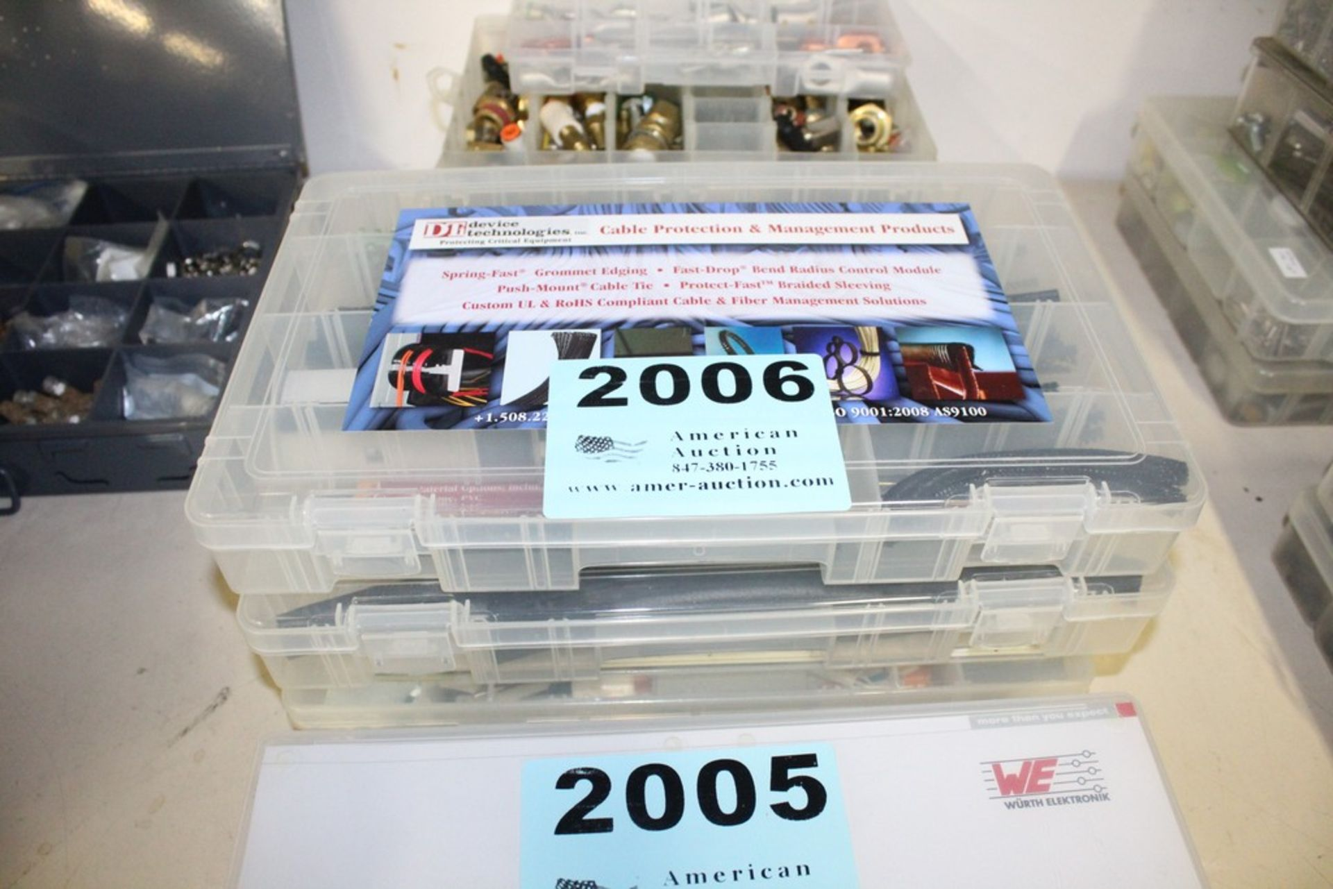 Lot 2006 - ASSORTED CABLING COMPONENTS IN FOUR CASES