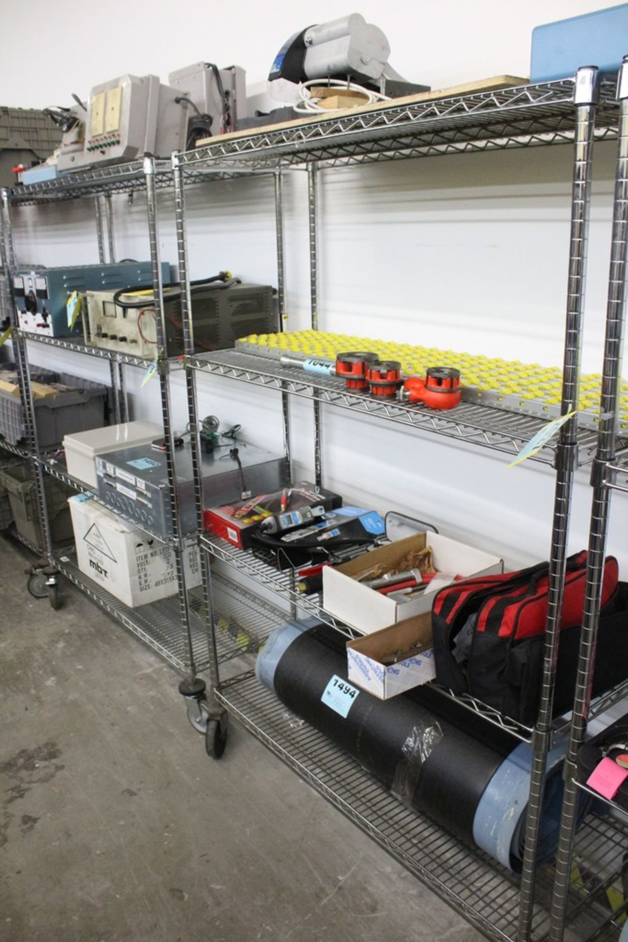 "Lot 2027 - PORTABLE WIRE SHELVING UNIT, 69"" X 48"" X 18"""