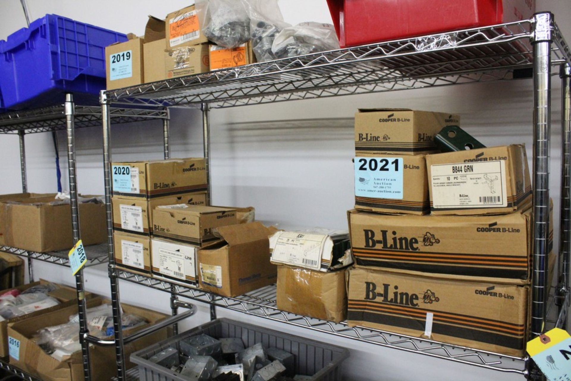 Lot 2020 - WIRING COMPONENTS ON SHELF