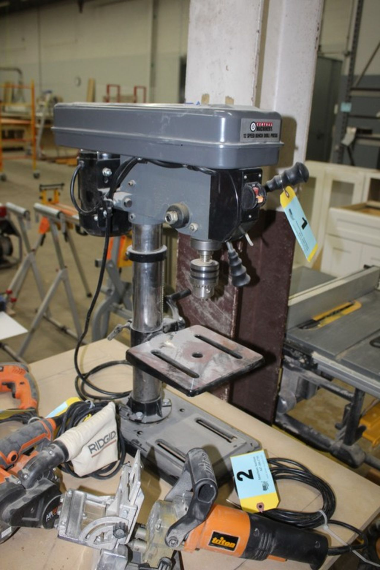 Lot 1 - CENTRAL MACHINERY 12-SPEED BENCH TOP DRILL PRESS