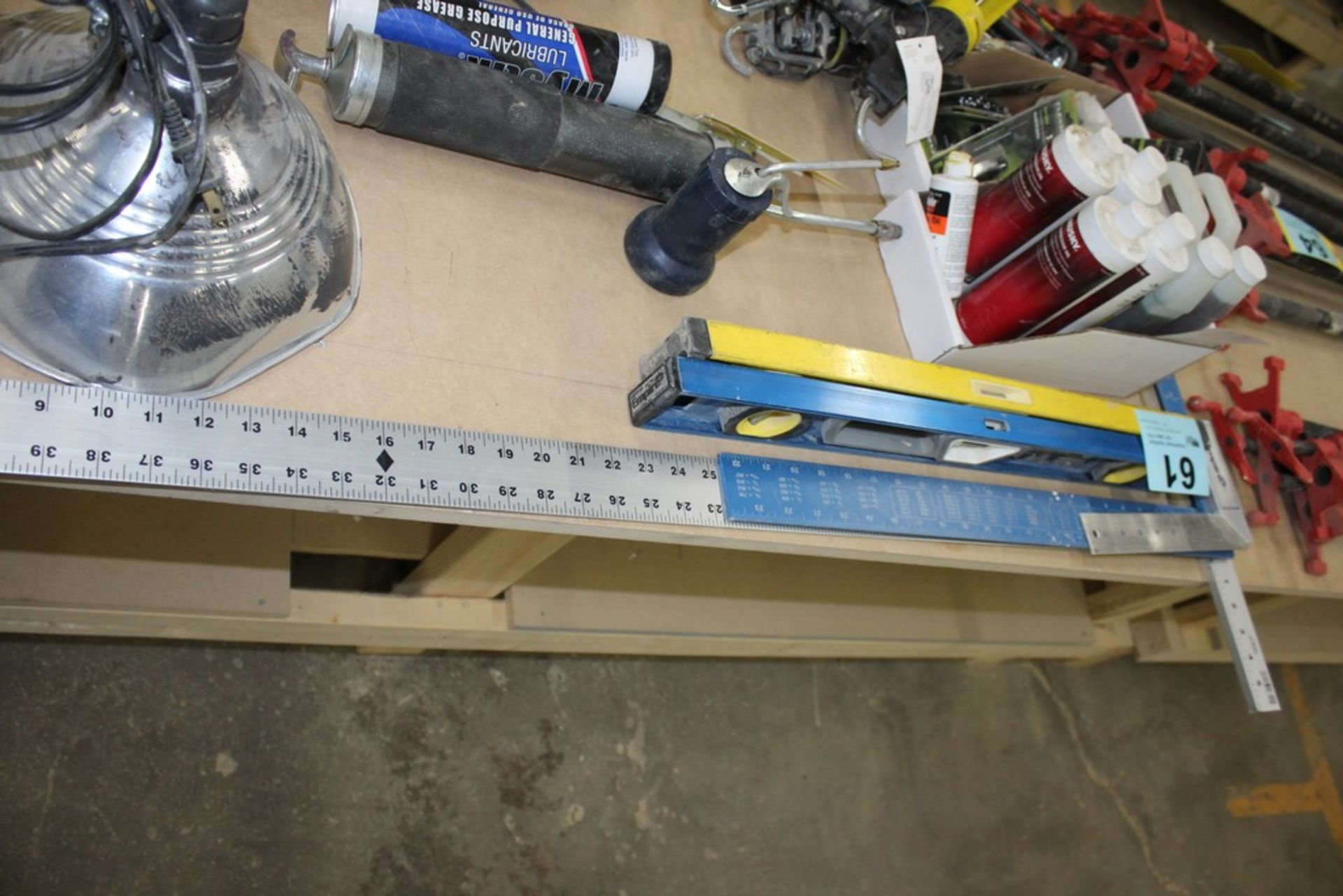 """48"""" T SQUARE WITH FRAMING SQUARES AND (2) 2' LEVELS"""