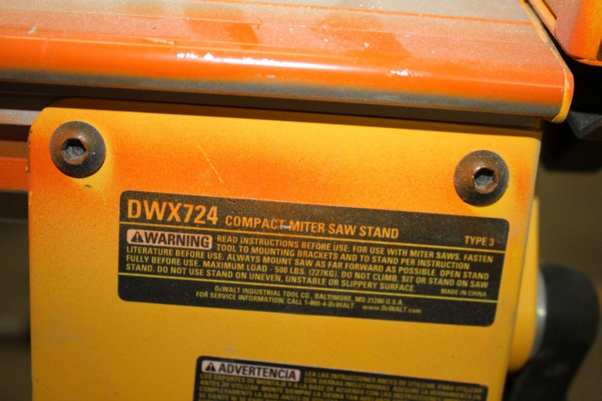 Lot 26 - DEWALT MODEL DWX724 COMPACT MITRE SAW STAND