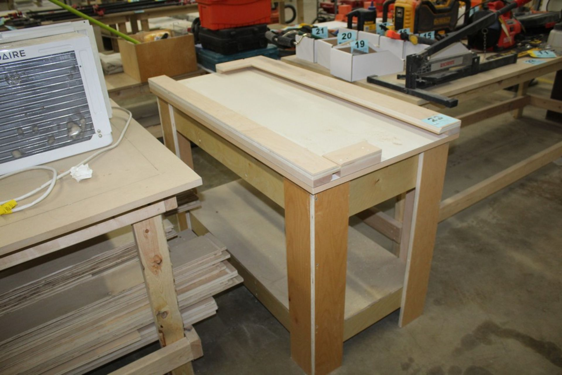 "Lot 23 - WOOD WORK BENCH 48"" X 24"" X 33"""