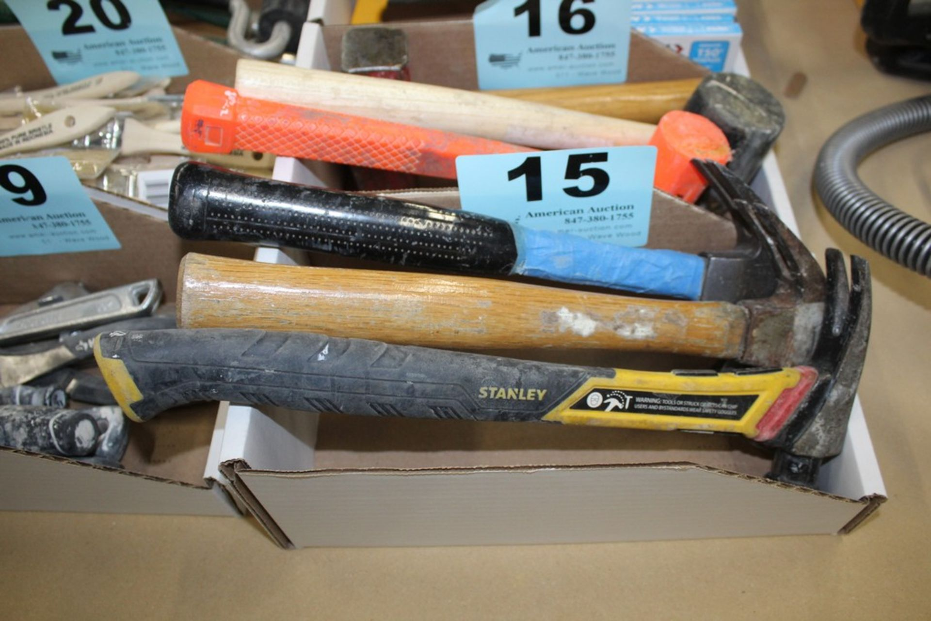 Lot 15 - (3) ASSORTED CLAW HAMMERS