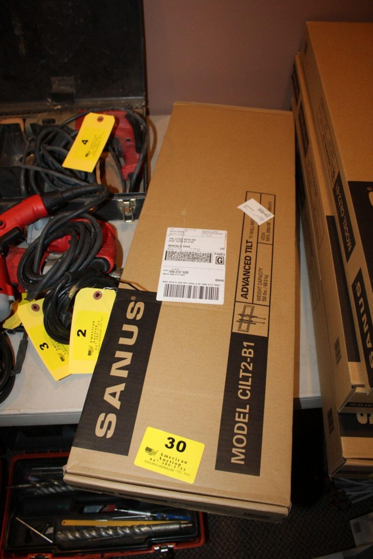 Lot 30 - SANUS MODEL CILT2-B1 ADVANCED TILT TV WALL MOUNT, VESA MIN:200X100 & MAX:690X415, UP TO 150LBS.