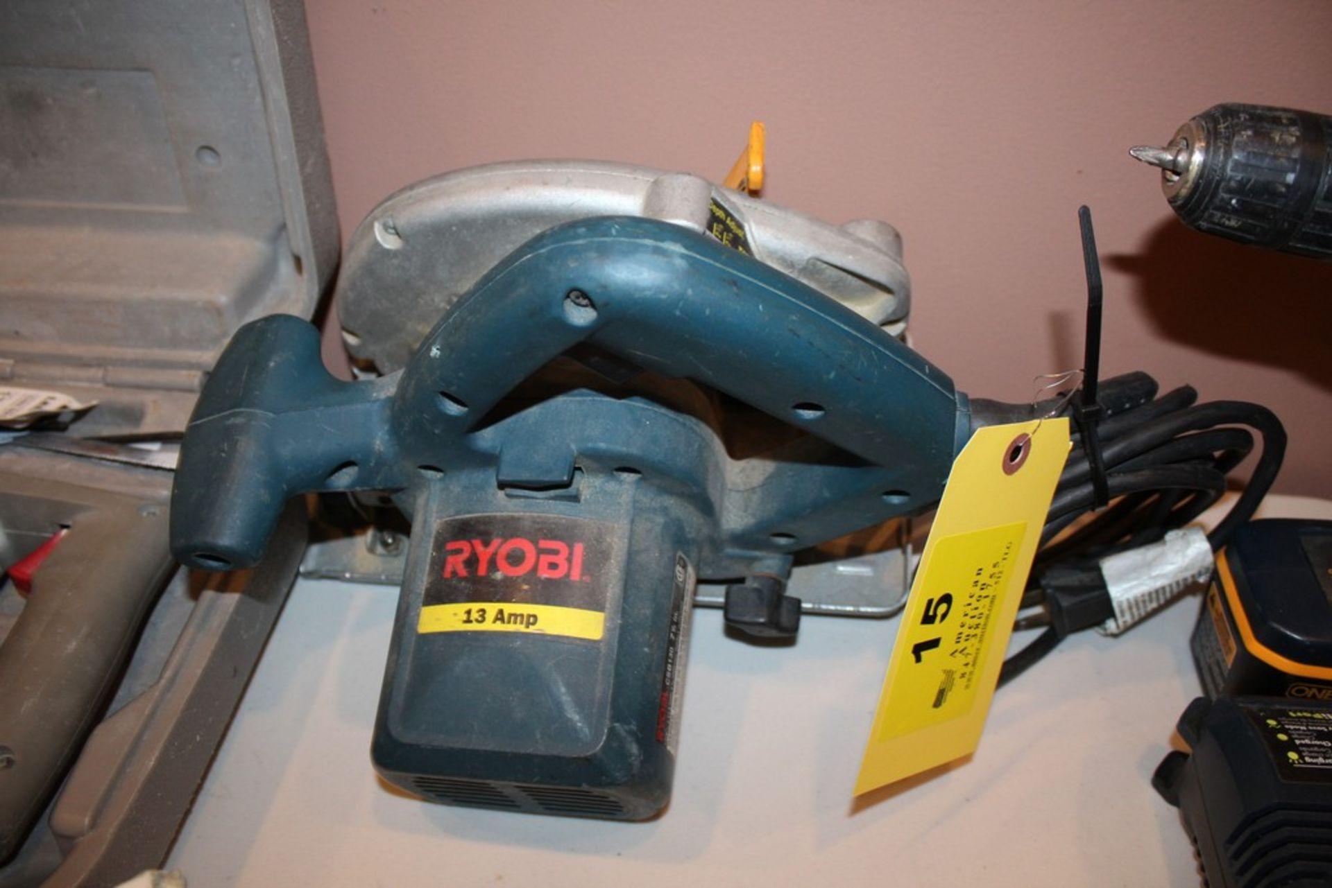 """Lot 15 - RYOBI MODEL CSB130 7-1/4"""" CIRCULAR SAW"""