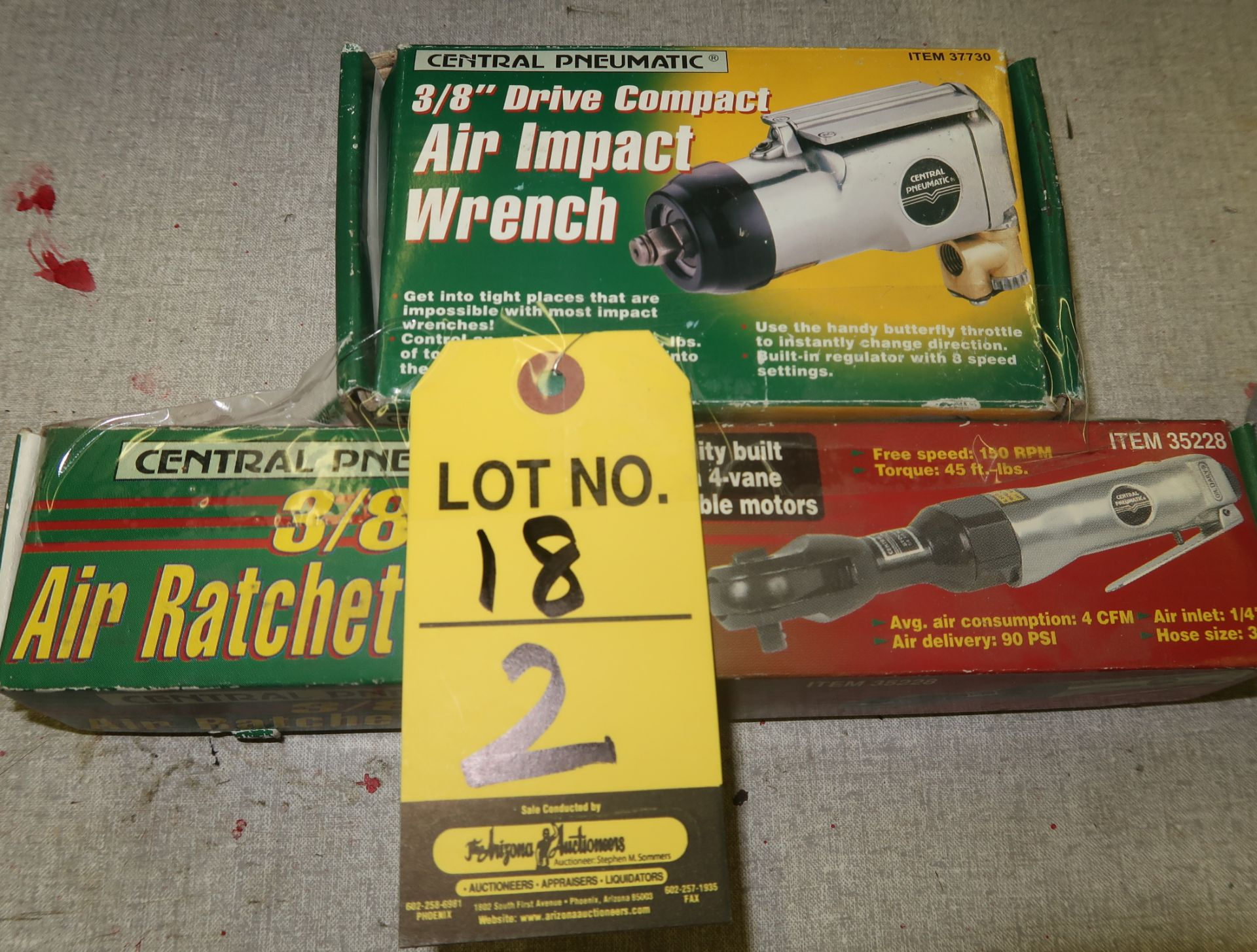 Lot 18 - AIR IMPACT WRENCH & AIR RATCHET WRENCH