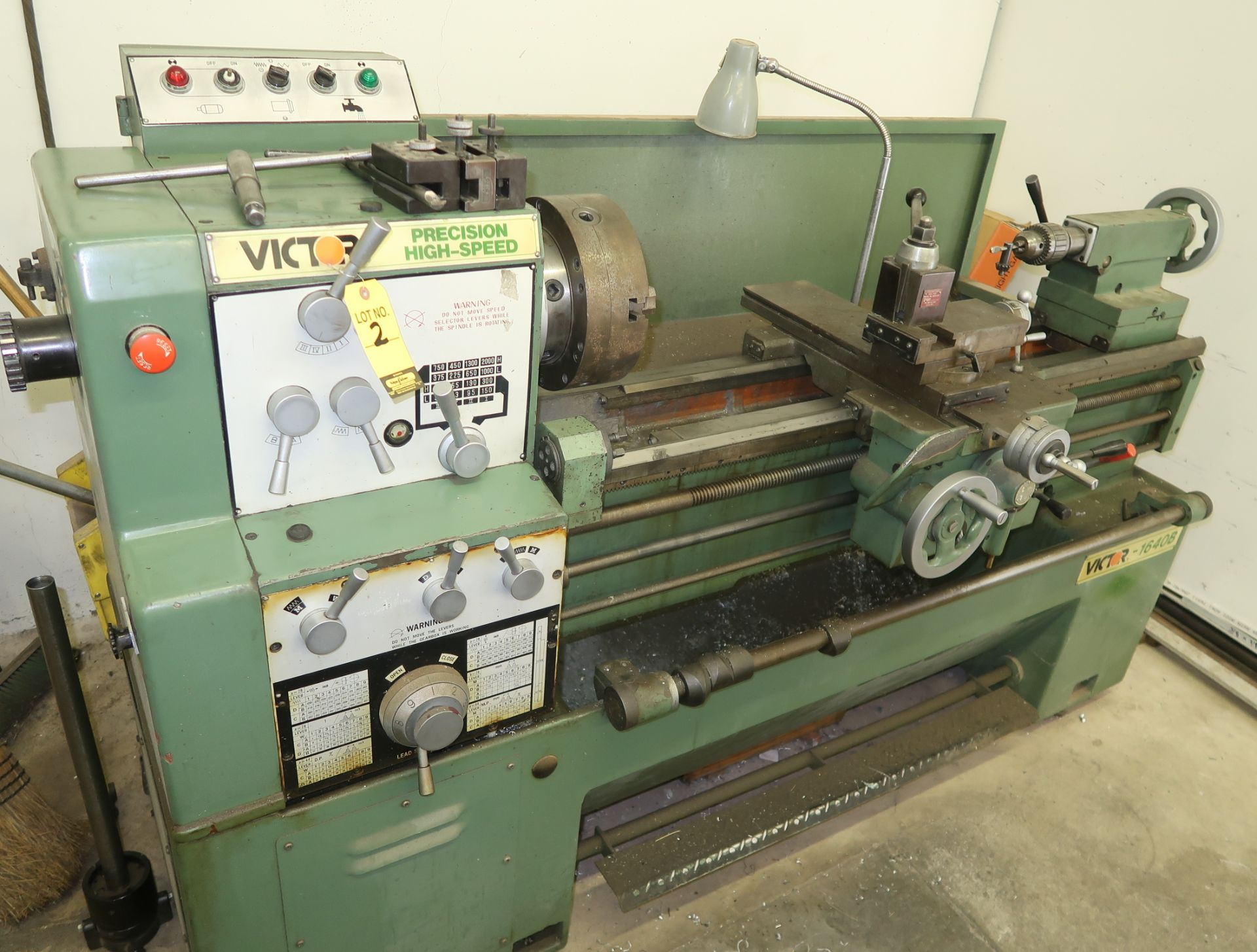 Lot 2 - VICTOR 1640B GAP BED, HIGH SPEED ENGINE LATHE, SN. 19112123, COLLET CLOSURE, QUICK CHANGE TOOL POST,