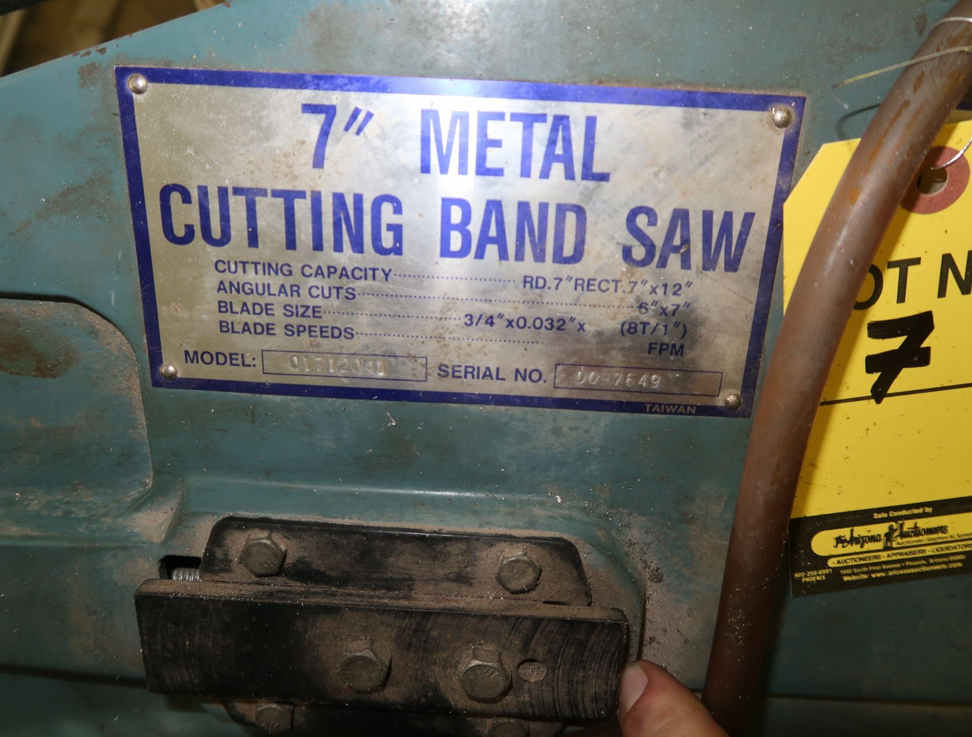 "Lot 7 - TURN PRO 7"" METAL CUTTINING UNIVERSAL BAND SAW, SN. 0097649"
