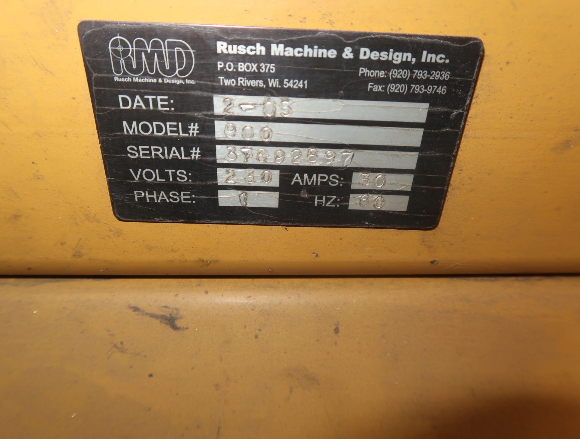 Lot 2 - RUSCH MACHINE & DESIGN INC. TUBE ANGLE NOTCHER MDL. 900 SN. 37892897