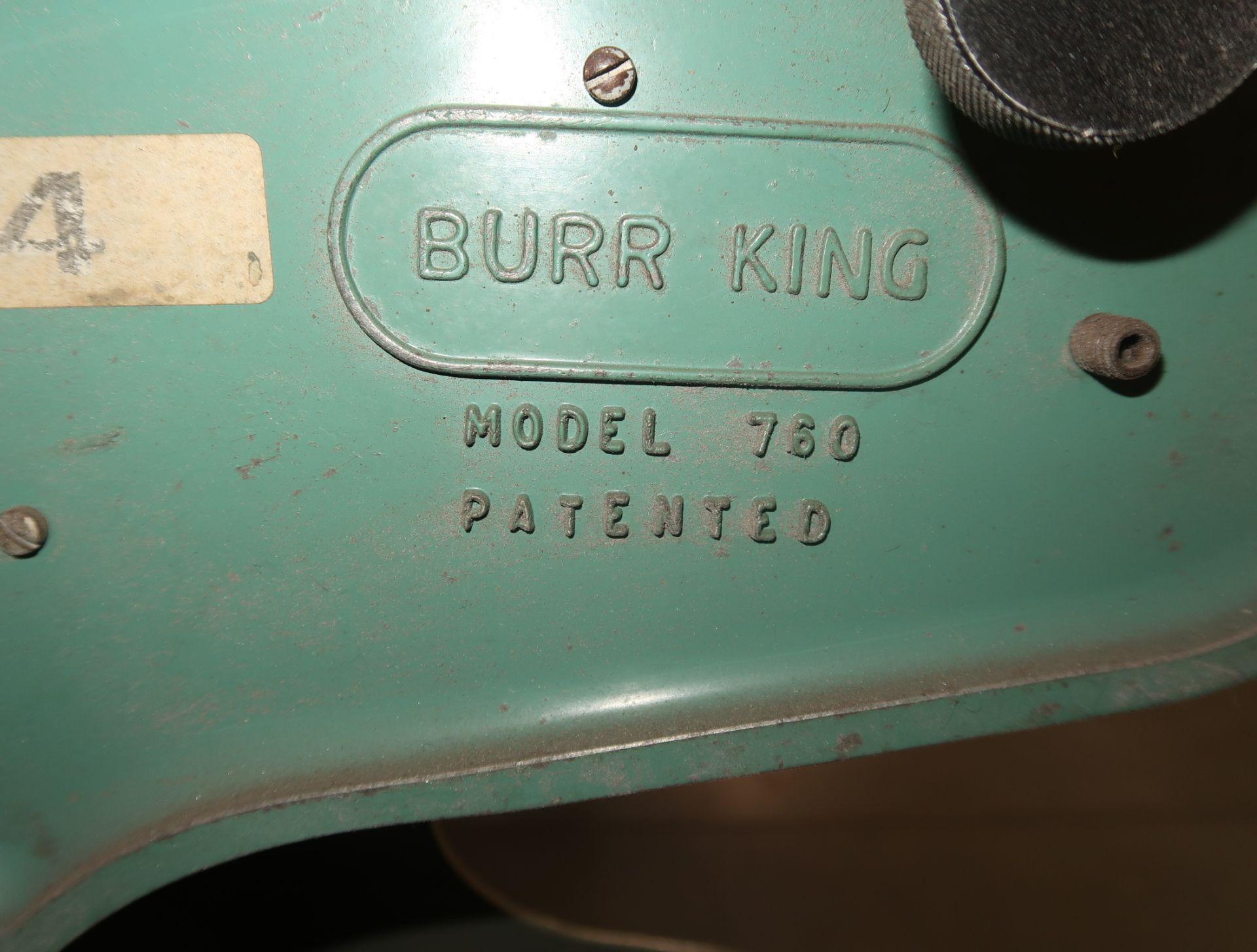 Lot 13 - BURR KING 3 WHEEL BELT GRINDER MDL. 760