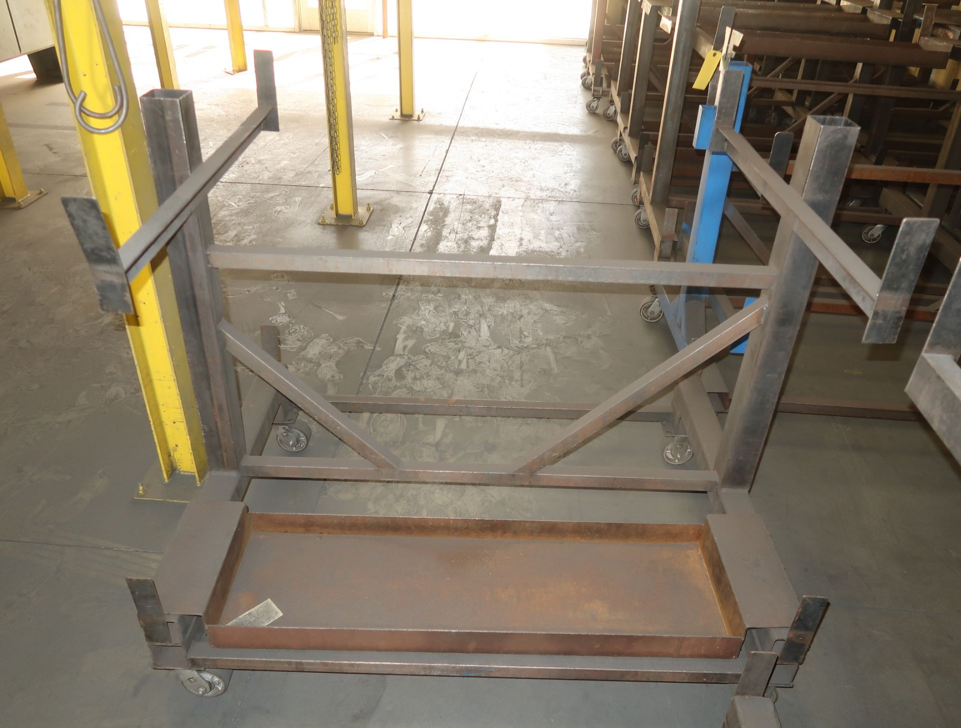 "Lot 48 - SHOP FABRICATED MATERIAL CARTS 38""X48"""