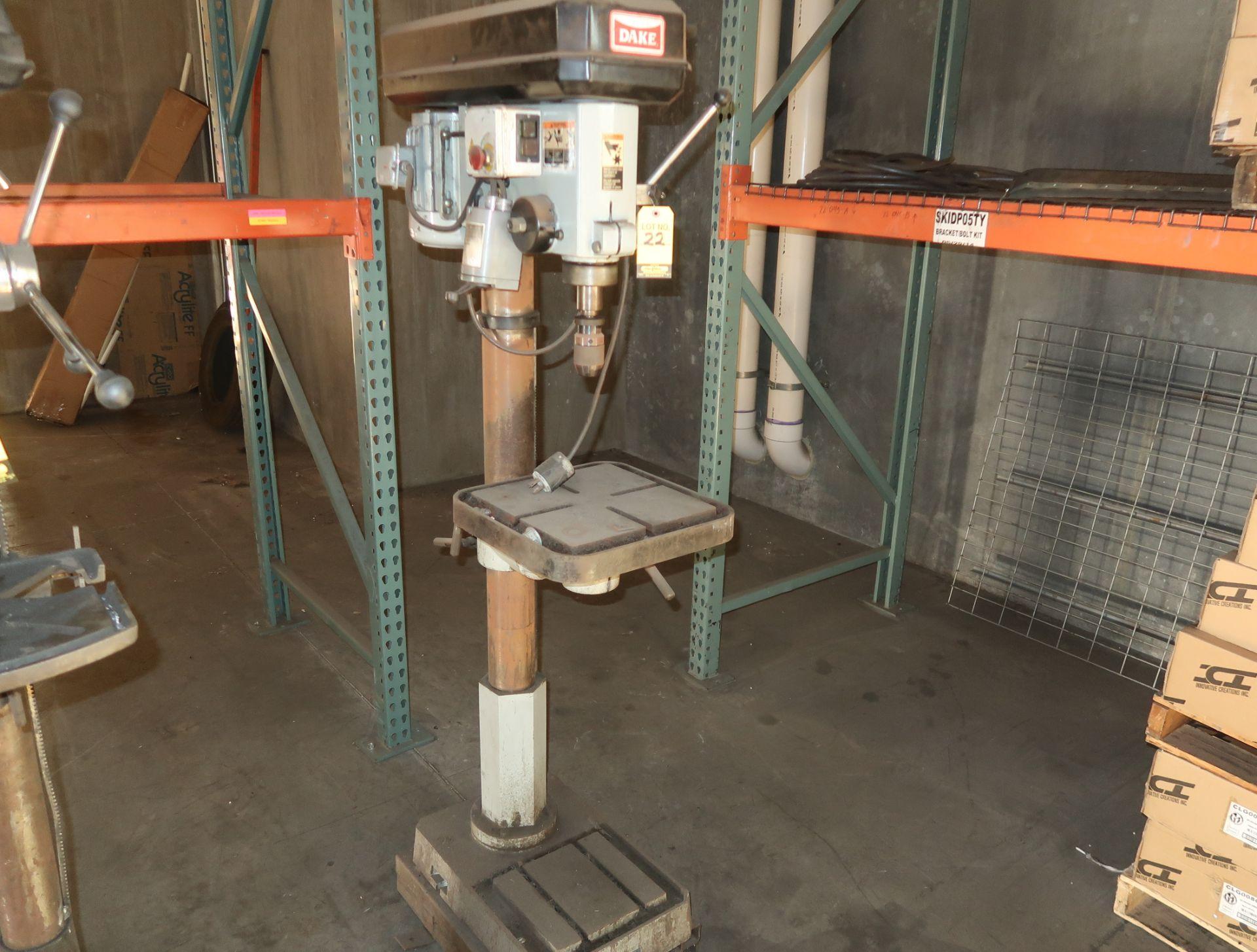 Lot 22 - DAKE 1.5hp DRILL PRESS MDL. SB-32