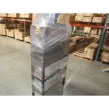 RIVETS, NUTS, BOLTS, WIRE, MISC W/ CONTAINERS & RACK