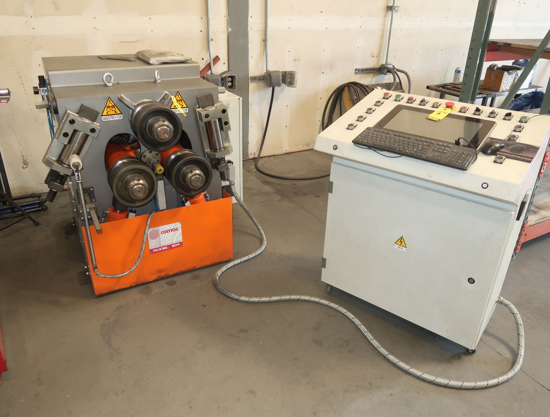 Lot 6 - 2017 COMAC NC SECTIONAL ROLL BENDER W/ CONTROL PANEL MDL. 304CN3.1V SN. 3040262