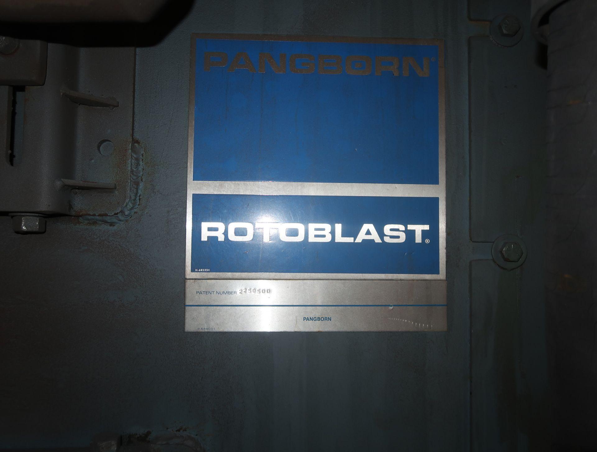 Lot 42 - PANGBORN RK ROTO BLAST WHEELABRATOR W/ TORIT DUST COLLECTOR MDL. ES-1838 SN. ES-1838-6-8626