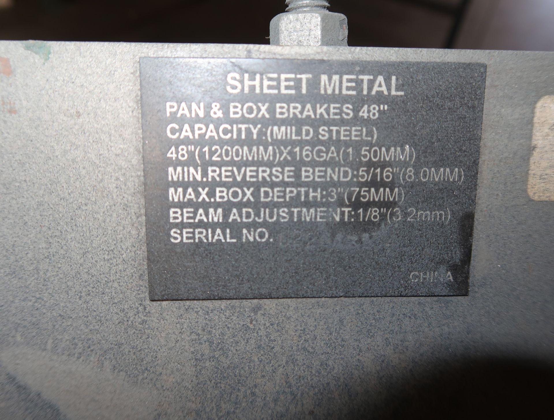 """Lot 21 - ENCO SHEET METAL 48"""" PAN&BOX BRAKE MILD STEEL SN. 022643134"""