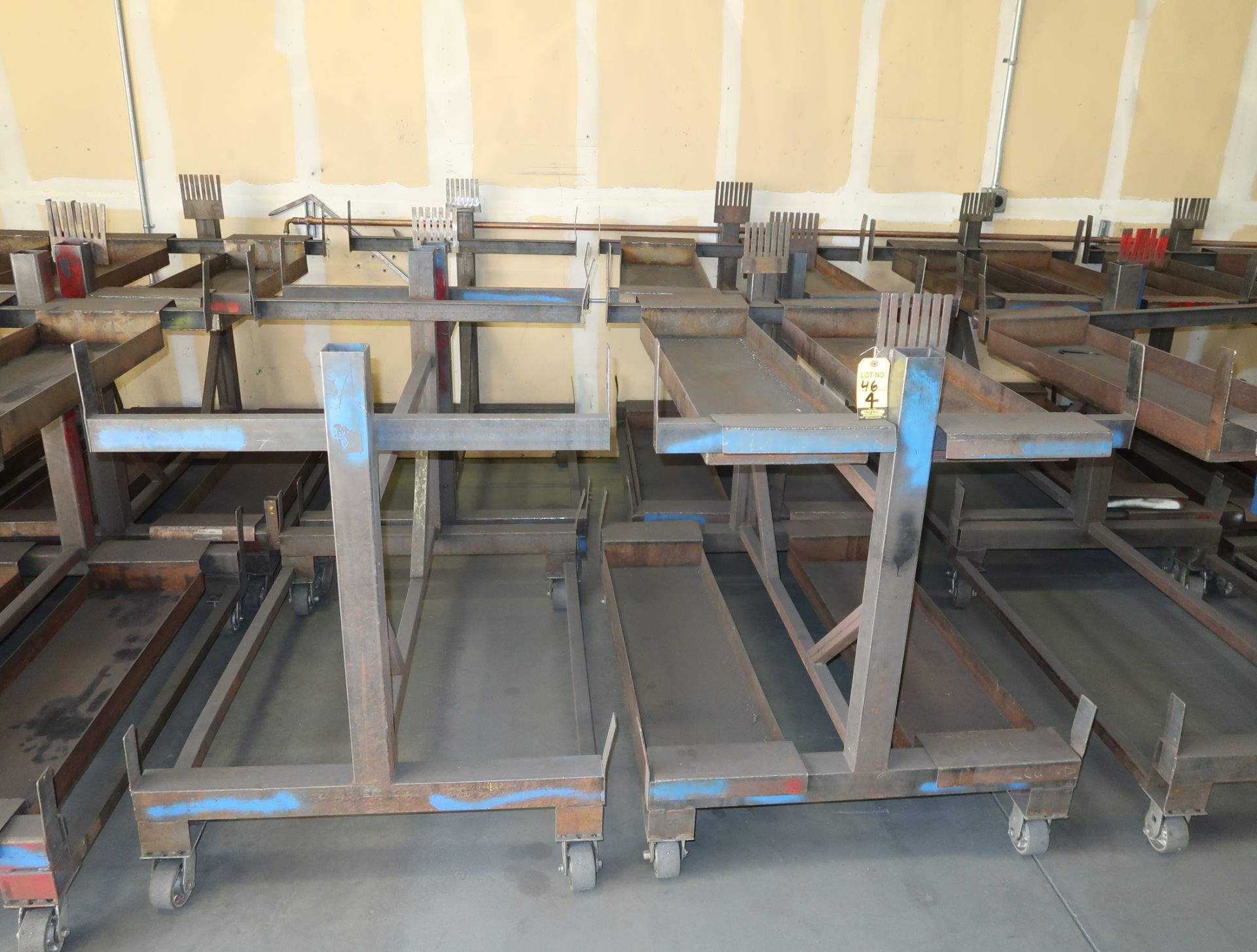 "Lot 46 - SHOP FABRICATED MATERIAL CARTS 38""X48"""