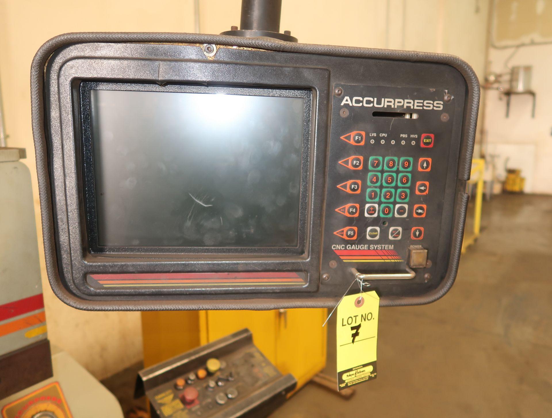Lot 7 - ACCURPRESS 60TON X 6' CNC PRESS BRAKE MDL. 7606 SN. 3247