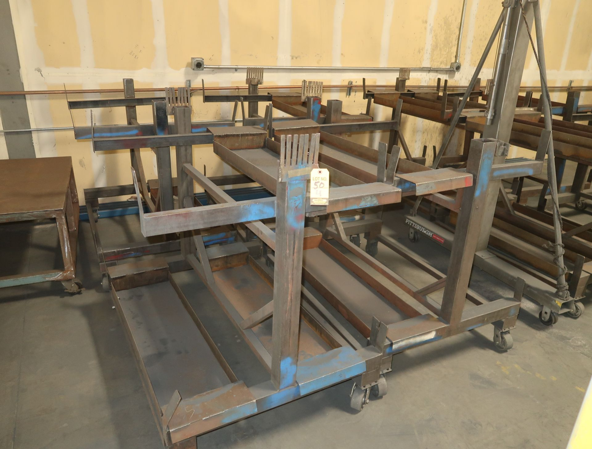 "Lot 50 - SHOP FABRICATED MATERIAL CARTS 38""X48"""