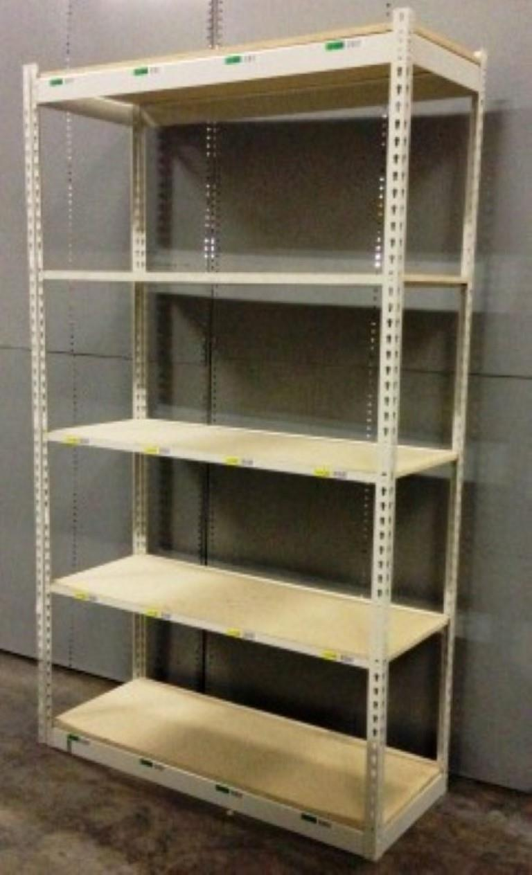 Lot 57 - ONE LOT OF 10 SECTIONS OF RIVETIER INDUSTRIAL SHELVING