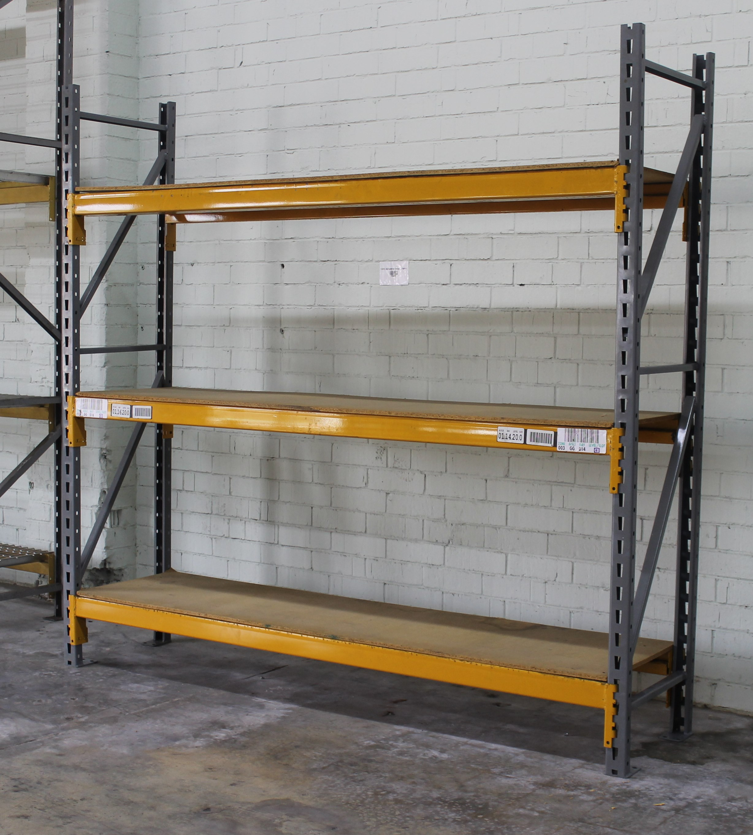 "Lot 39 - NEW 10 SECTIONS OF 96""H X 24""D X 96""L STOCK ROOM PALLET RACK SHELVING"