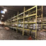 """Lot 35 - 5 BAY OF 16""""H X 96""""W X 42""""D SPEEDRACK WITH 3 LEVEL OF BEAM COLOR YELLOW"""