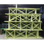 """Lot 37 - 10 BAY OF 16""""H X 96""""W X 42""""D SPEEDRACK WITH 3 LEVEL OF BEAM COLOR YELLOW"""
