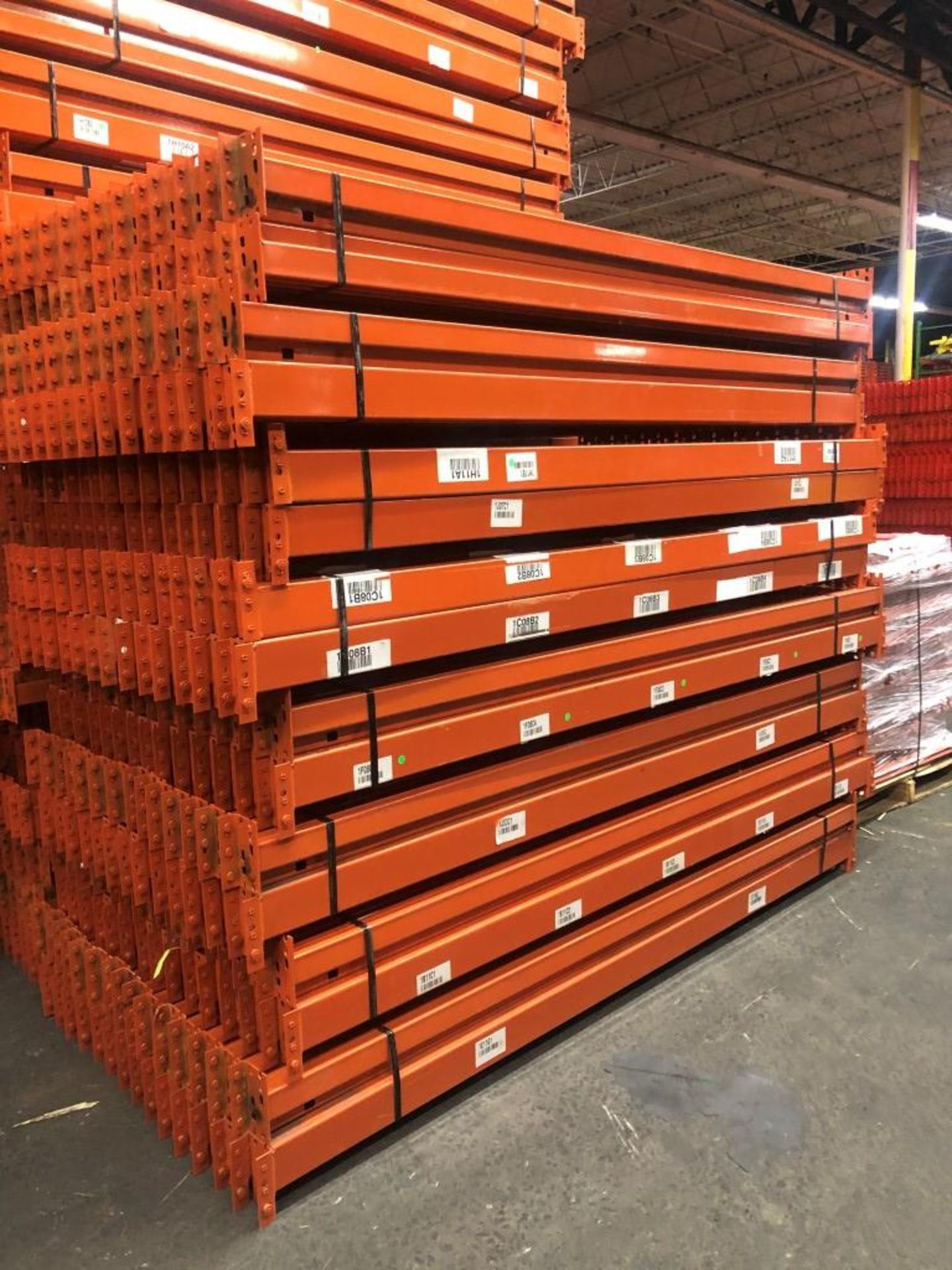 "Lot 1 - 14 BAYS OF 20'H X 42""D X 96""L USED TEARDROP STYLE PALLET RACKS"