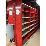 25 SECTIONS OF HALLOWELL H-POST CLOSED BACK SHELVING