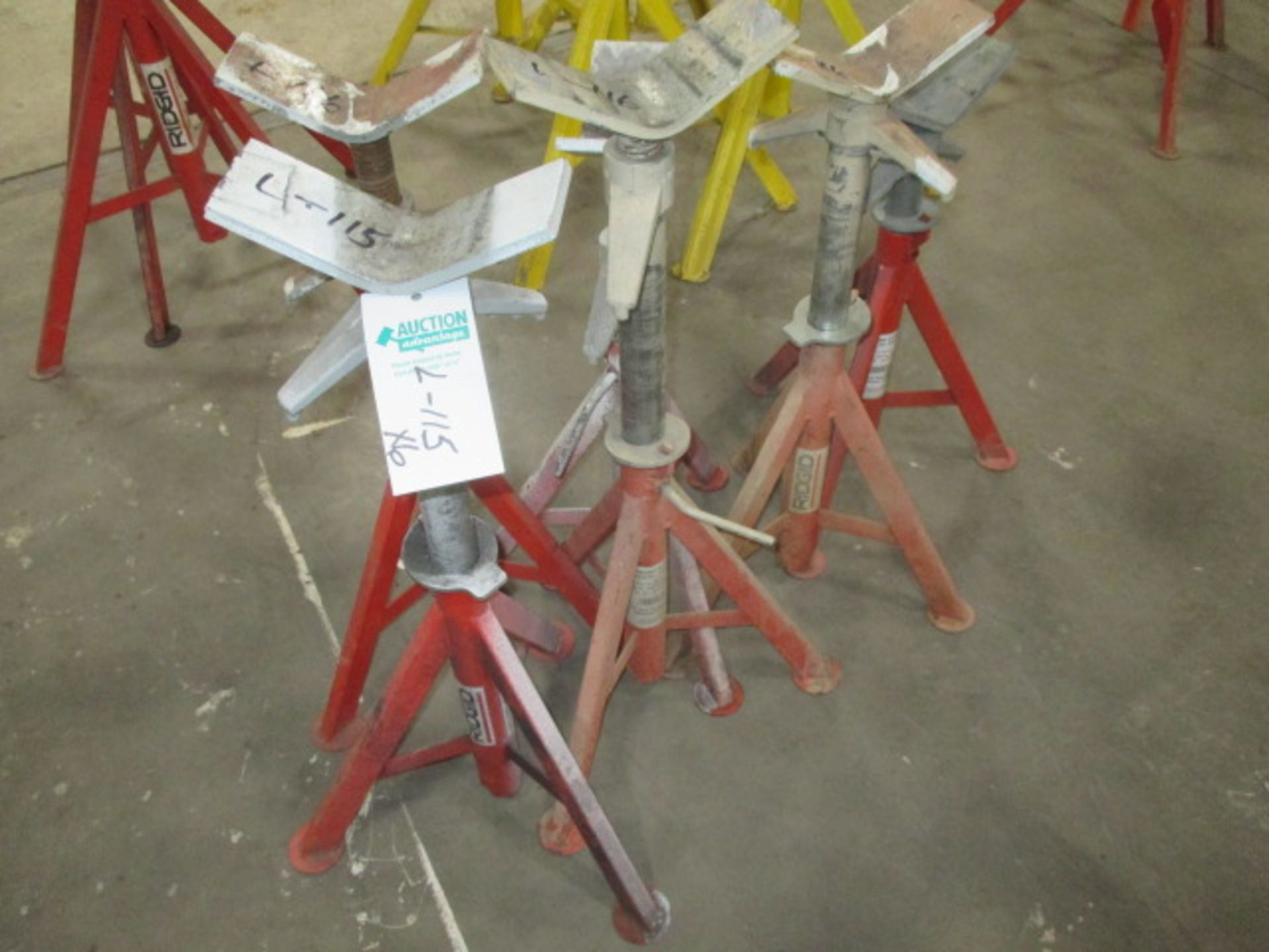 """Lot 115 - 6 - Rigid Adjustable Pipe Stands 16"""""""