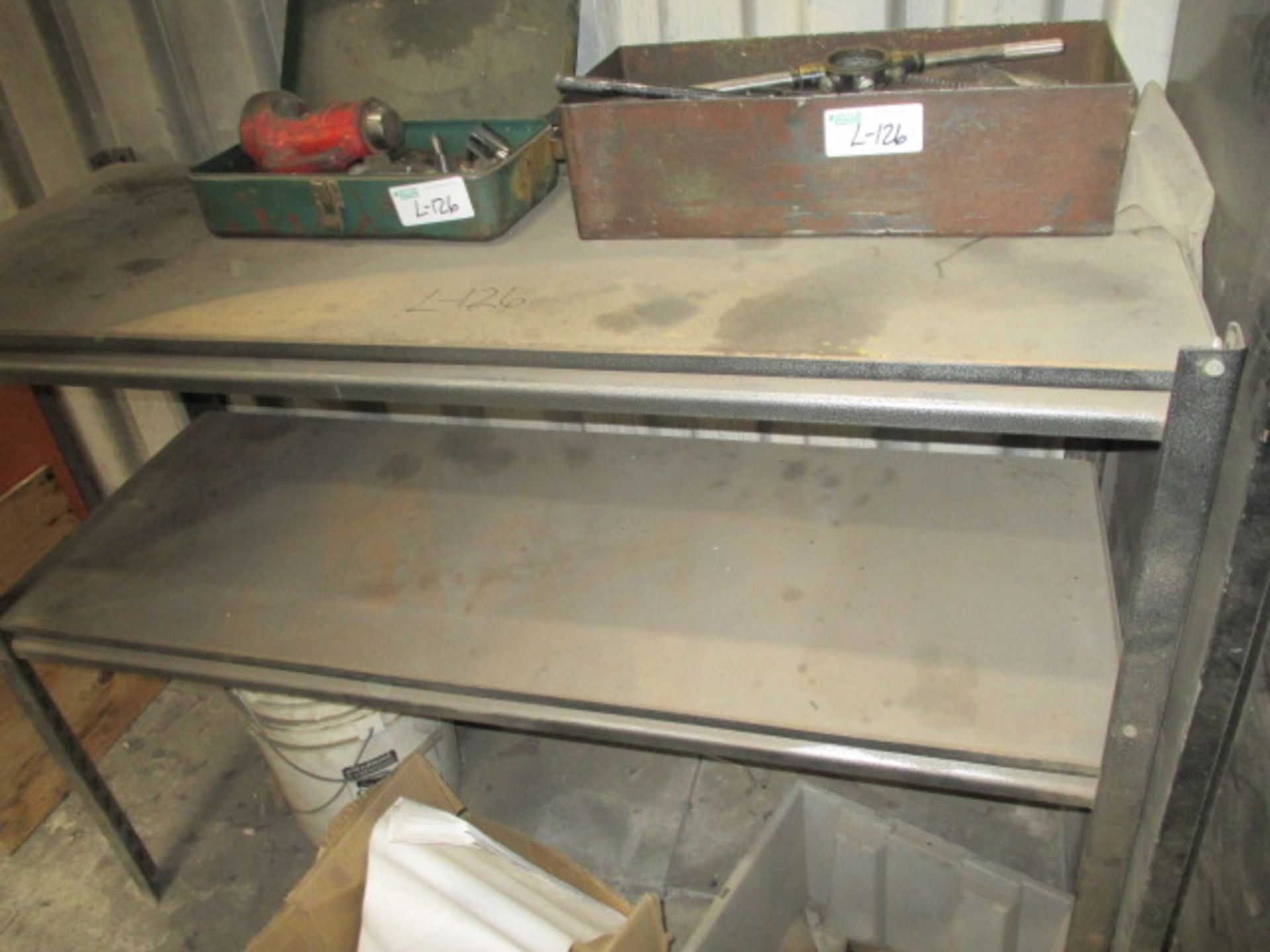 Lot 126 - 2 Tier Shelf and Misc. Tap and Die Sets