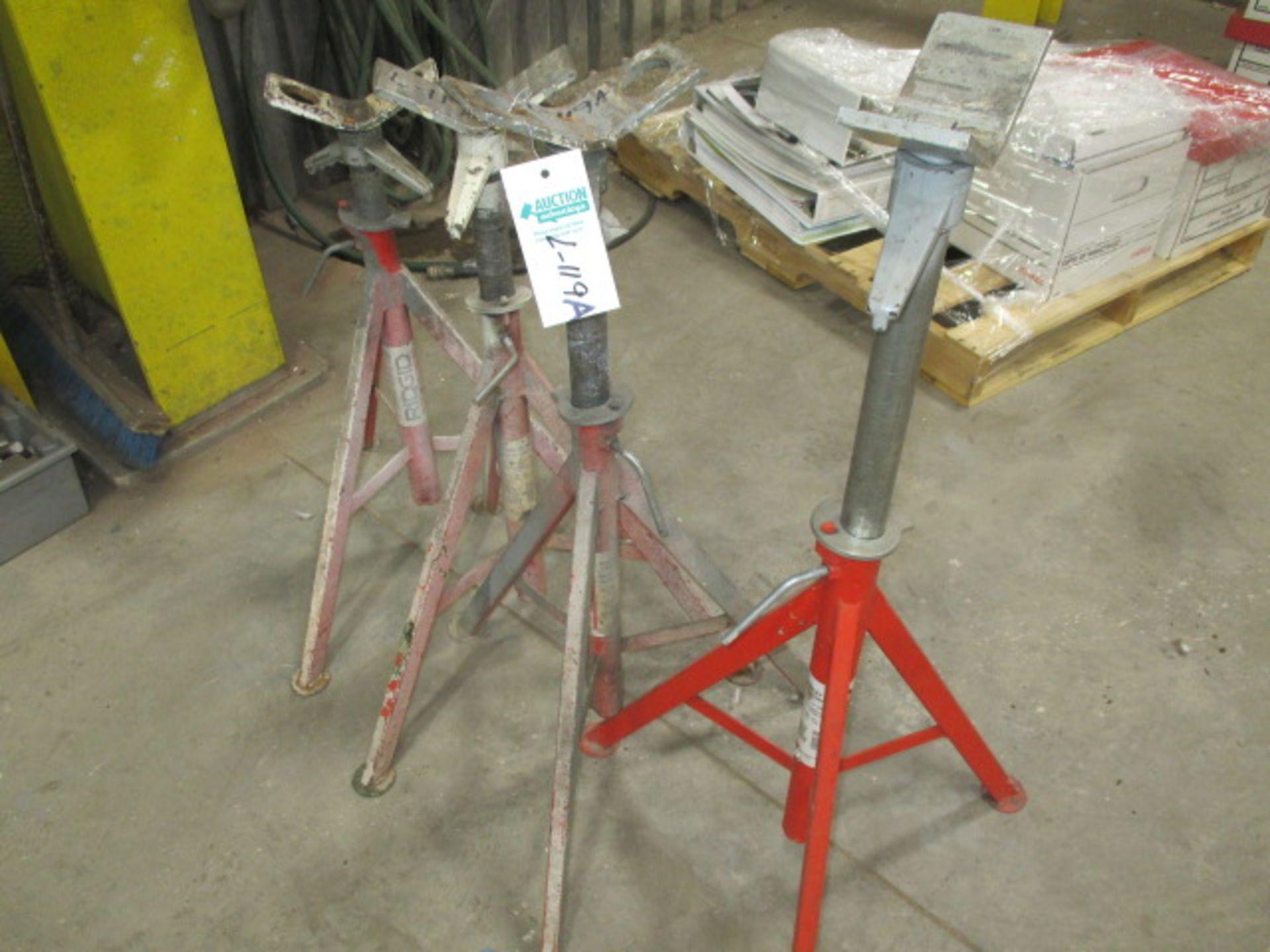 Lot 119a - 4 Ridgid adjustable jack stands