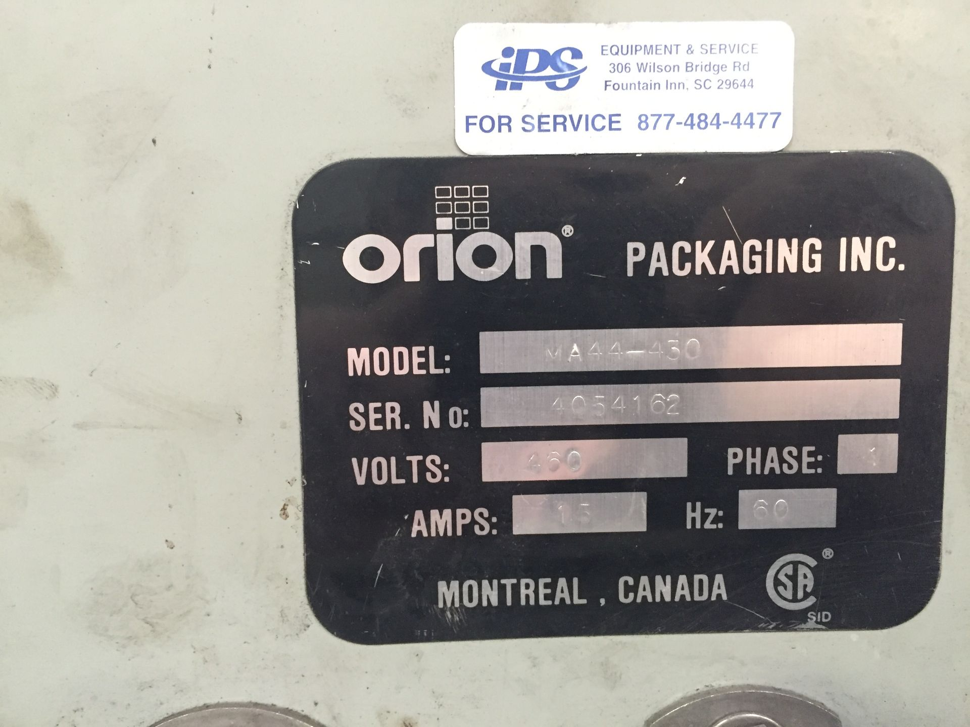 Lot 35 - Orion MA44 Rotary Arm Pallet Wrapper