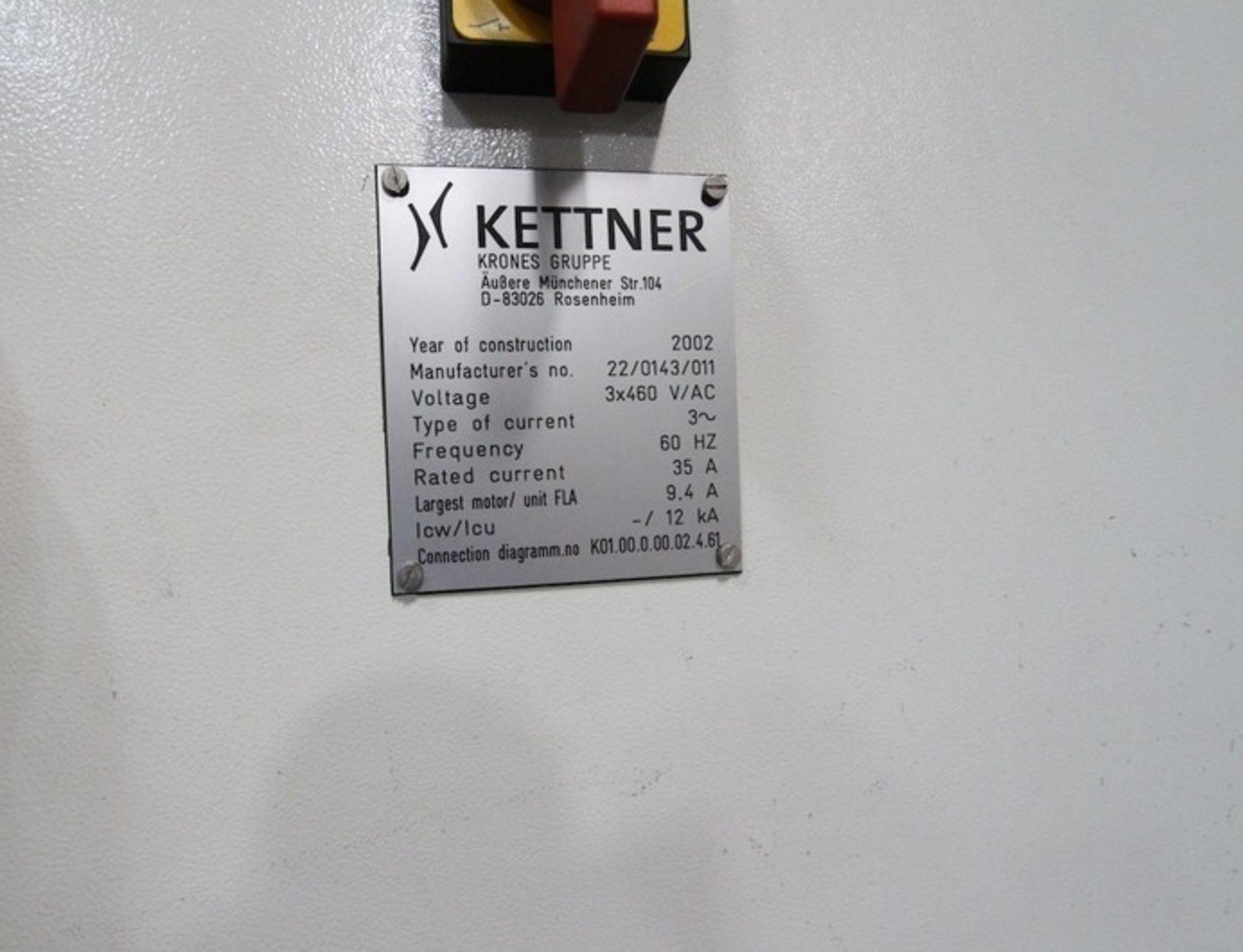 Lot 36 - Krones Kettner Low Level Palletizer