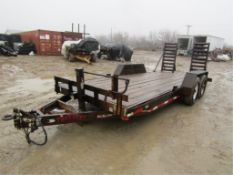 '99 Trotter Flatbed Trailer w/Ramps, Vin#082699, 80' x 18', additional $25.00 title fee