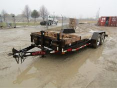 '99 Trotter Flatbed Trailer, Vin #082599, 18' x 80', additional $25.00 title fee