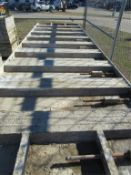 """(20) 36"""" x 10' Wall-Ties/PreciseConcrete Forms, Attached Hardware Smooth 6-12 Hole Pattern"""