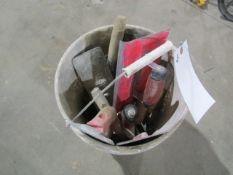 Bucket of Assorted Hand Trowels/Floats