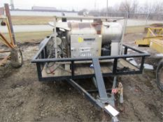 Pressure Washer Trailer without Title, 4000 PSI Kubota Engine, Coil Leak