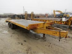 '01 Vactec Deck Over Trailer, Vin#VBT1101C002, 14,000# with ramps, additional $25.00 title fee