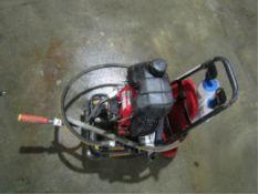 Allen Back-Pack Vibrator 39284, Honda Gas Motor, With Cart, Serial #AH4162496