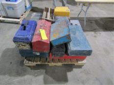 Pallet of Empty Tool Boxes