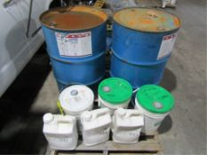 Pallet Cure Clear, Sil Crete, Gearco, Naturalizer, (2) Drums Safe Cure Clear, (2) Buckets Sil