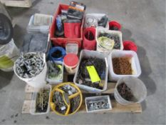 Pallet of Misc. Fasteners