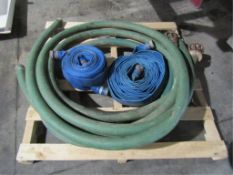Pallet (3) Suction Hoses; (2) Discharge Hoses
