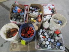 Pallet of Misc. Spray Paint, Cleaners, Etc.