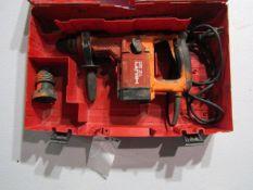 """Hilti TE35 Hammer Drill, Serial # 316091, Max Concrete 1 1/4"""", 120 Volt, Located in Hopkinton, IA"""